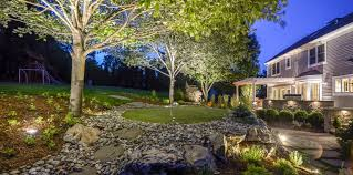 backyard putting green lighting lighted putting green sponzilli landscape group