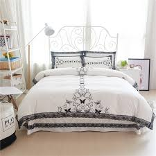 free shipping via ups 100 cotton u0026lace butterfly rabbit bedding set
