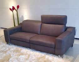 Modern Reclining Leather Sofa Small Contemporary Recliners Curved Sectional Sofa With Recliners