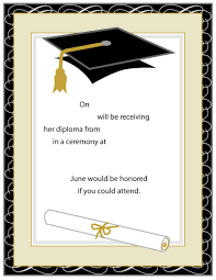 graduation announcements sles 40 free graduation invitation templates template lab