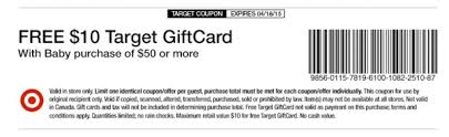 stores with baby registry target baby coupon 10 target gift card with 50 baby