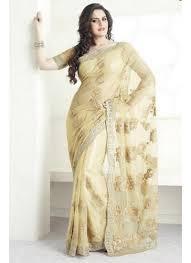 sari mariage elégant sari beige pour mariage