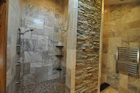 bathroom shower curtain ideas brown tile wall decors unique