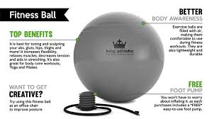 amazon com stability balance yoga ball swiss exercise balls