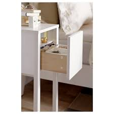 Nightstand With Shelf Bed Bath White Wood Nightstand With Storage Shelf