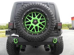lifted jeep green 2016 jeep wrangler unlimited biohazard custom lifted leather xd