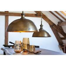 industrial style lighting for a kitchen industrial style dome pendant light in brass finish antique