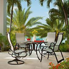 48 Inch Round Table by Aruba Ii 5 Piece Aluminum Patio Dining Set With 48 Inch Round