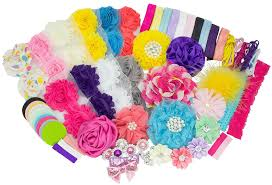 diy baby hair bows baby shower headband station diy kit by jlika make