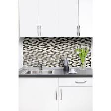 Smart Tiles Murano Stone  In W X  In H Peel And Stick - Home depot tile backsplash