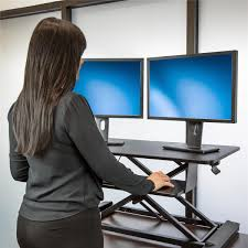 Sit And Stand Computer Desk by Startech Com Sit Stand Desk Converter With 35 Inch Work Surface