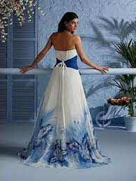 plus size blue and white wedding dress naf dresses