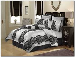 Black And White Queen Bed Set Bedding Set Elegant Looks Black White Bedding Queen Amazing