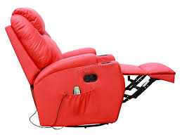 reclining swivel rocking chair foxhunter bonded leather sofa massage recliner chair swivel