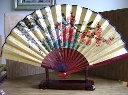 oriental fan wall hanging vintage asian motif display fan wall hanging fan hand