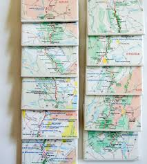 New York Appalachian Trail Map by Vintage Appalachian Trail Map Coasters Set Of 11 Art Art