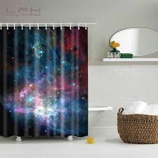 design anpassen lfh duschvorhang 180x180 cm cool glänzende sterne raum universum