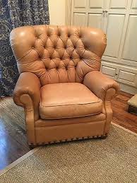 Leather Armchair Ebay Thomasville Camel Tufted Leather Chair Ebay Furniture That I