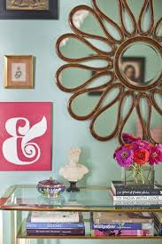 a magical flair gives your living room wall color mint green