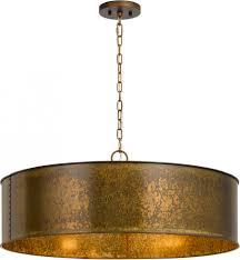 Gold Pendant Lighting Pendant Lights Cal Fx 3637 5 Rochefort Distress Gold Drum