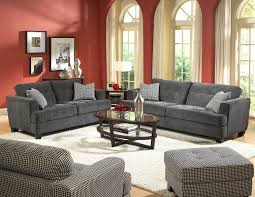 Fabric Sofa Sets by Furniture Comfortable Grey Fabric Sofa Set Plus Red Painted Wall