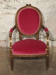 fuschia chair decadent louis xvi giltwood armchair in fuschia velvet at 1stdibs