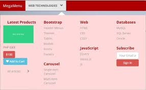 menu templates for bootstrap a bootstrap mega menu template with 3 styles
