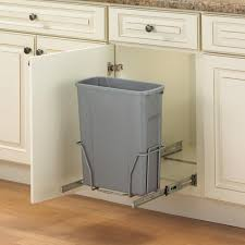 Kitchen Cabinet Garbage Drawer Platinum Kitchen The Home Depot