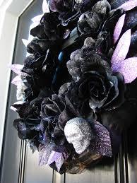 halloween black roses homemade halloween decorations the painted rabbit