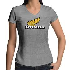 honda motorcycle logos retro 70s honda motorcycles racing wing logo top womens juniors v