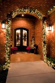 Metal Christmas Decorations Outdoor by Metal Christmas Card With Front Entrance Porch Traditional And