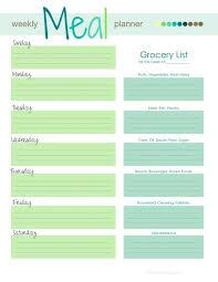 printable menu planner pages meal planner template free printable planner template