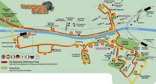 Columbus Route Map by Hop On Hop Off Dublin Map Dublin Hop On Hop Off Route Map Ireland