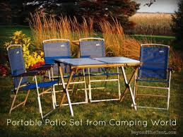 Patio Table And Chair Sets Portable Patio Set Comes In Handy Review Beyond The Tent