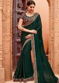 green chiffon blouse green chiffon saree with blouse saree 1677sr07