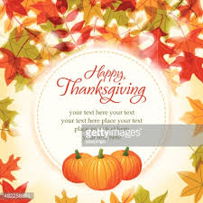 thanksgiving greetings vector getty images