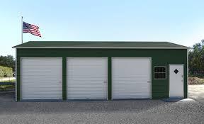 3 door garage three car steel garage building kit price