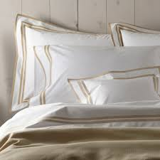 Luxury White Bed Linen - matouk meridian luxury bed linens