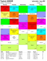 Schedule E Worksheet Typical Schedule Hs Ojai Valley Private College Prep