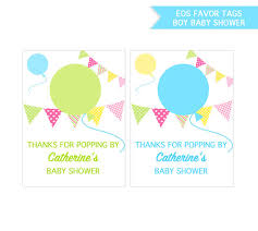 baby shower favor with eos lip balm personalized printable