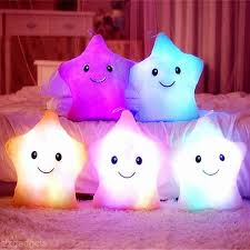 Decorative Seat Cushions Romantic Color Changing Led Light Up Star Glowing Soft Pillow Car