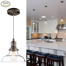 clear glass pendant lights for kitchen island donglaimei mini vintage clear glass pendant light edison industrial