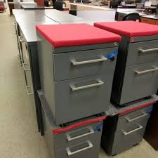 Used File Cabinet Haworth Mobile File Pedestal File Cabinet On Wheels Wt Cushion