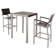 City Furniture Patio by Trex Outdoor Furniture Surf City Textured Silver 3 Piece Patio Bar