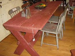 funk u0026 gruven a z primitive saw buck dining table