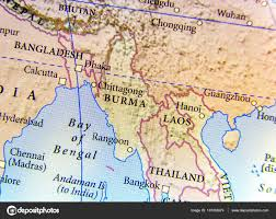 Map Burma Geographic Map Of Burma Bangladesh And Laos Country With Impor