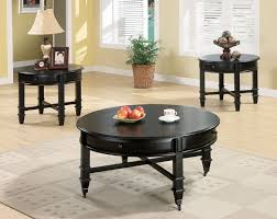 Black Living Room Table Sets Black Coffee Table Sets Amepac Furniture