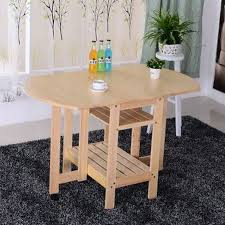 pine dining room table semi circle foldable pine solid wood living room furniture coffee