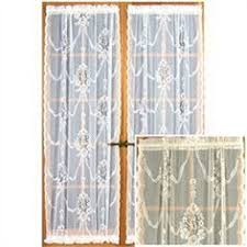 french door panels cotton lace curtains ivory by hatchedinfrance