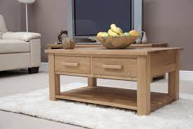 eton solid oak furniture storage coffee table with drawers amazon